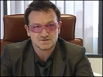 Bono in the Independent editor's chair