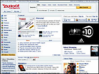 The new Yahoo homepage, Yahoo