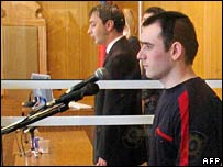 Kulayev (foreground) in the dock on 16 May 2006