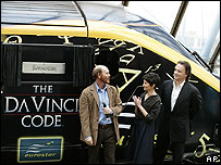 Ron Howard with Tom Hanks and Audrey Tautou