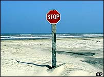 Stop sign in the desert