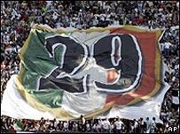 Los aficionados de la Juve celebran la reconquista del t�tulo