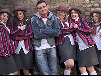Daz Sampson and his teenage backing band