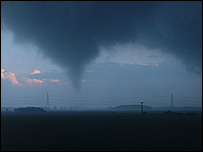 Sleaford tornado (Viewer's photo)