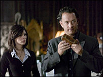 Audrey Tautou and Tom Hanks in a still from The Da Vinci Code film