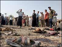 Scene of the blast in Baghdad