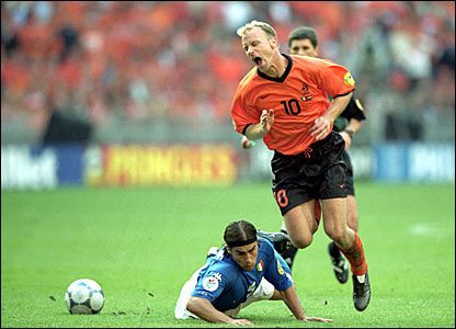 Dennis Bergkamp announced his retirement from international football after Euro 2000 - his fear of flying meant he would not travel to the 2002 World Cup in Japan