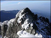 Mountain peak in Rwenzori   Image: Andrew Wielochowyski