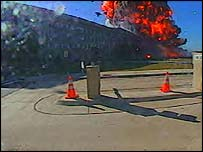 Pentagon crash site, 11 September 2001