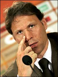 Holland coach Marco van Basten