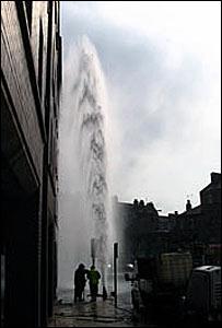 Damaged water valve