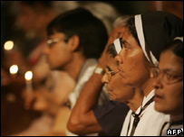 Indian Christians at a rally in Mumbai