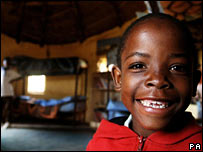 Aids orphan in Lesotho