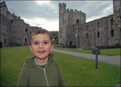 Allan Phoenix's son James at Caernarfon Castle while on a holiday from their home in Ottawa, Canada