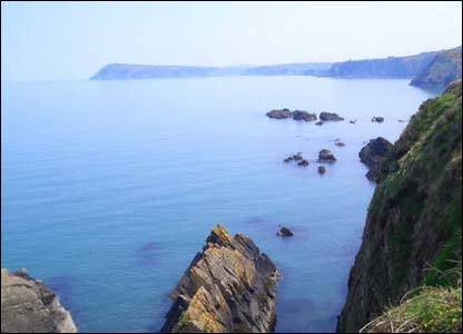 The view from Fishguard to Newport, as taken by David Ashton while on a revision break