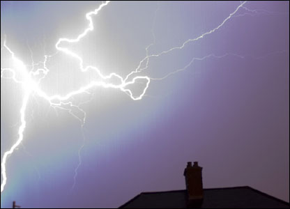 Dorian Creber captured this shot during a recent storm while looking east from Gowerton
