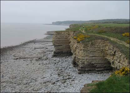 On the way to Nash Point! As sent by Caerwyn Williams