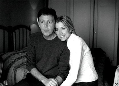 A handout picture released by Sir Paul and Mills to mark their engagement
