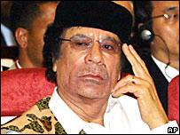 El mandatario libio Muamar Gadafi, en foto de archivo