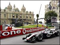 Juan Pablo Montoya at Casino Square in Monaco in 2005