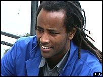 He is a German citizen of Ethiopian origin that was attacked in East Germany in April