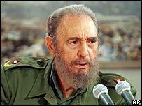El presidente de Cuba, Fidel Castro