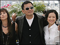 Monica Bellucci, Wong Kar Wai and Ziyi Zhang