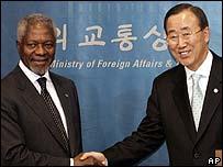 Kofi Annan con Ban Ki-moon