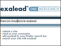 Exalead home page