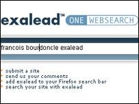 Exalead home page