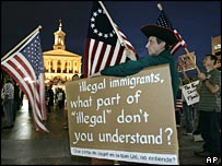 Anti-illegal immigration demonstration in Nashville, Tennessee