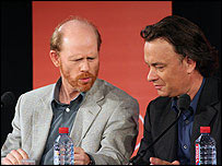 Ron Howard and Tom Hanks at the Da Vinci Code press conference in Cannes