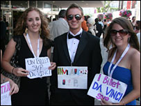 US film students at the Da Vinci Code premiere in Cannes