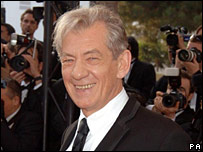 Sir Ian McKellen, in Cannes