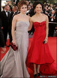 Helena Bonham Carter (l) and Ziyi Zhang