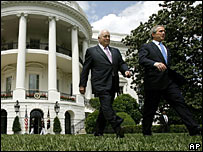US President George W Bush and Vice President Dick Cheney