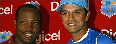 Brian Lara and Rahul Dravid