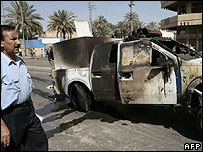 Aftermath of Baghdad bomb