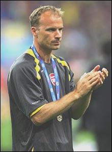 Dennis Bergkamp after the Champions League final