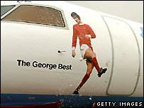 Plane with George Best on the side.