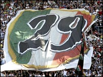 Juve fans celebrate their 29th league title