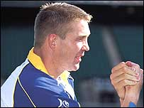 Carl Hogg as Leeds captain in 2001-02