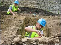 Excavation of Malmesbury town wall