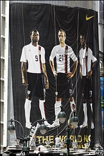 Advertising banner for Team USA in New York