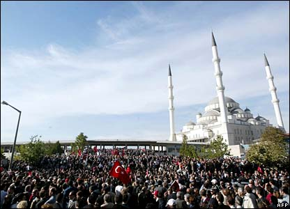 Funeral in central Ankara