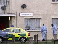 Stabbing scene in Edgware