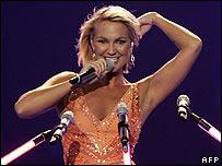 Belgian Eurovision singer Kate Ryan