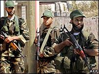 Hamas forces in Gaza City