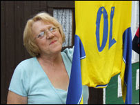 Josie Potts with her grandson's football kit