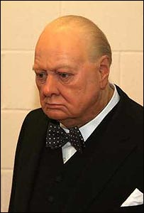 Waxwork of Churchill: Photo courtesy of Dominic Winter Book Auctions
